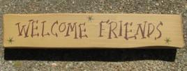 M9006WF - Welcome Friends  Wood block