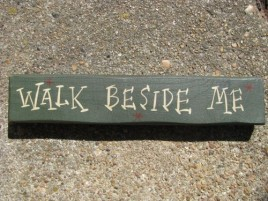 M9009WBM- Walk Beside Me wood block