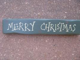9043MC-Merry Christmas wood Block