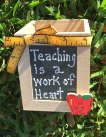 Teacher Gifts 913503DC-Teaching is a work of heart Wood Box