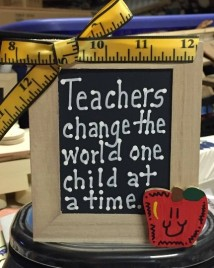 Teacher Gifts 913504DC-Teacher Change the world one child at a time Supply Box