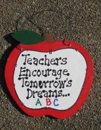 Teachers Gifts - 9171TE Teachers Encourage Tomorrow's Dreams Apple