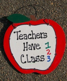 Teachers Gifts - 9171THC  Teachers Have Class wood apple