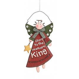 Christmas Angel Ornament 9445 Glory to the Newborn King