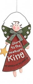 Christmas Angel Ornament 9445 Glory to the Newborn King