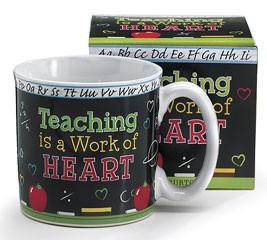 9712437NB Teaching is a work of heart ceramic mug