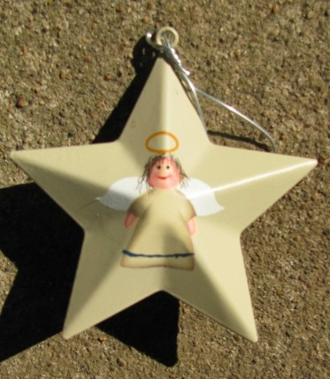 OR-207 Angel Metal Star Ornament