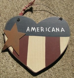 Patriotic Decor  99108A -  Primitive Heart Americana