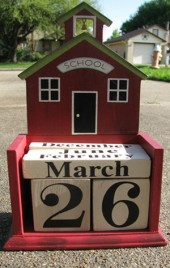 99701 - Teacher Wood Perpetual Calendar