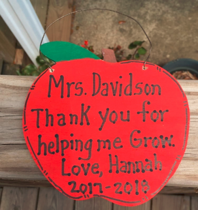Teacher Gifts A9502  (teachers name) Thank you for helping me Grow Love (child's name) and  (current) year