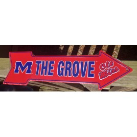 AS25014- M the Grove Old Miss Metal Arrow Sign