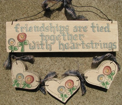 B3873 - Friendships are tied together with  heartstrings