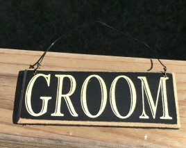 CS-6462G  Groom Primitive Wood Sign