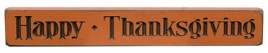 G12150  Happy Thanksgiving Engraved wood Block