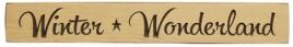 Engraved Wood block G9113 - Winter Wonderland