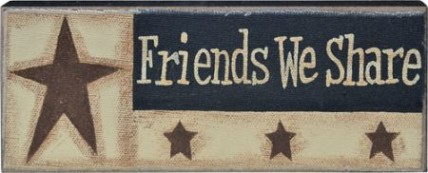 GJHA0552B - Friends We Share Canvas Wood Block