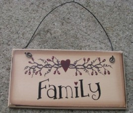 GM3033A - Family  Wood Sign