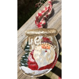 65214 Santa Metal Stocking with Red Hat Right