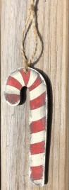 Christmas Wood Ornament Candy Cane