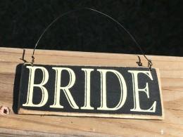 CS-6463B Bride Primitive Wood Sign