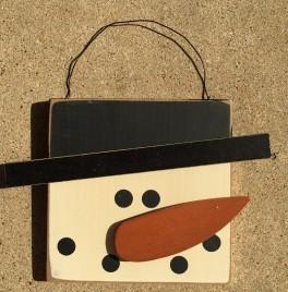 Primitive Wood 74095 Snowman Face