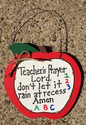 Teacher Gifts 691 Teacher's Prayer Apple