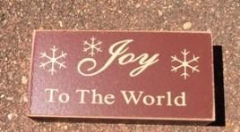 Primitive Wood Block 6099 - Joy to the World