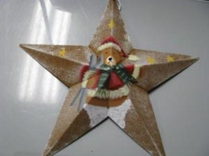 Christmas Ornament MS3 - Bear Metal Star