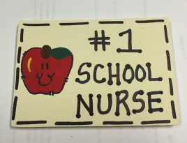 Teacher Gifts N3200 - No. 1 School Nurse Wood Sign
