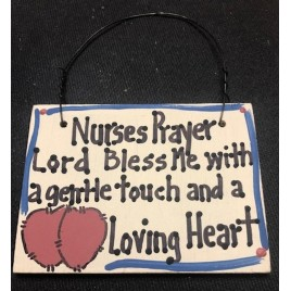 Crafts Wood NP0621 Nurses Prayer Lord Bless Me with a gentle touch and a Loving Heart
