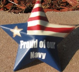 OR224 - Proud of our Navy - Metal Star