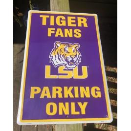PS30007-LSU Tigers Aluminum Parking Sign