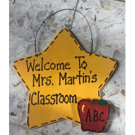 Teacher Gifts STS800 Welcome To (Teacher's Name) Classroom Star
