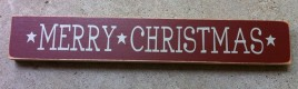 Primitive Country T1821 Merry Christmas Wood Block