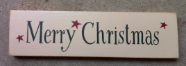 Primitive Wood Block  T1912 Merry Christmas