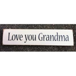 Primitive Country T2051 Love You Grandma wood block