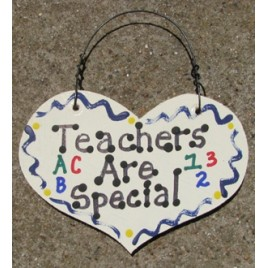 999 - Teachers Are Special wood heart