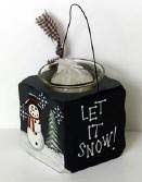 2043 Let It Snow Snowman with candle