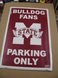 PS30046-Mississippi State Bulldog Metal Parking Sign