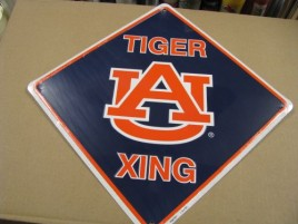 XS67001-Auburn Tigers Metal XING Sign