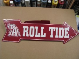 AS25005-Alabama Roll Tide Metal Arrow Sign