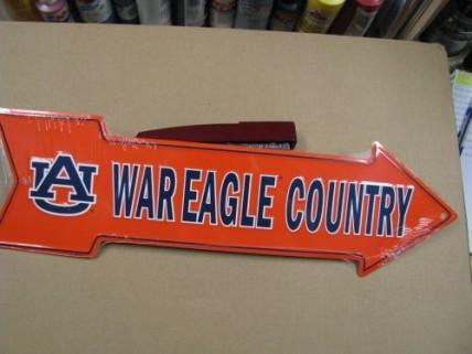 AS25035-Auburn Tigers Arrow Sign