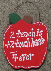 Teacher Gifts A9500 2 Teach is 2 Touch Hearts 4 ever
