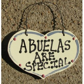 1035A - Abuelas Are Special small wood heart