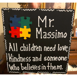 Autism Puzzle Sign Teacher Gift -  All kids need a little help a little hope and somebody who believes in them