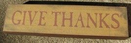 bj-35 Give Thanks wood  Block