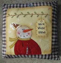 Christmas Decor C1364WWW-Warm Winter Wishes Tag Pillow