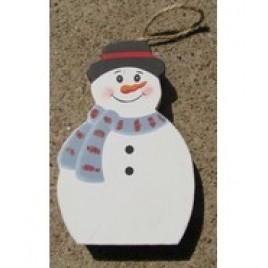 Wood Snowman Ornament CH6 - Chunky Snowman