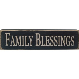 12531-Family Blessings wood block