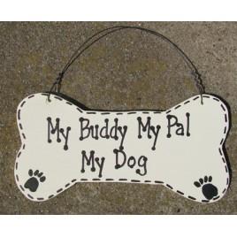 DB4- My Buddy My Pal My wood Dog Bone